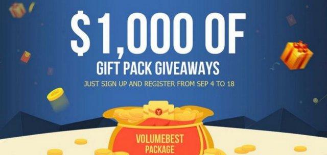 Evo kako da dođete do poklon paketa od 100$ koji daje VolumeBest.com