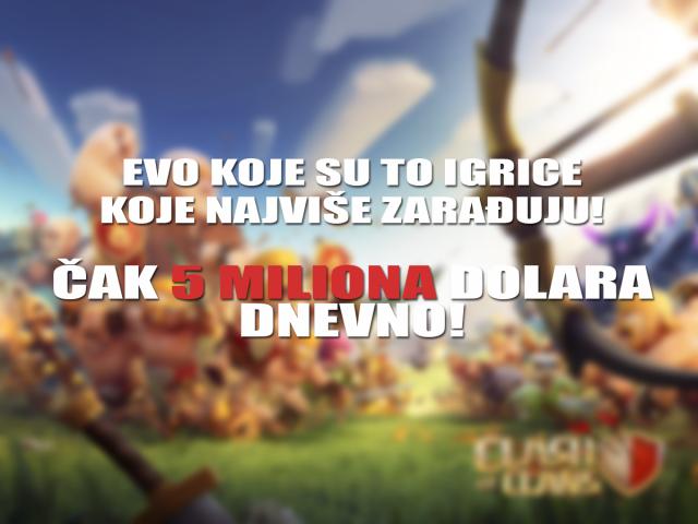 Evo koje igrice zarađuju 5 miliona dolara dnevno!