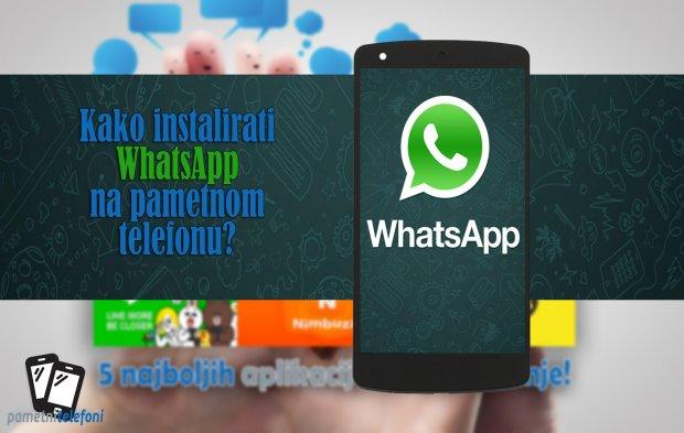 Kako instalirati WhatsApp na telefonu?