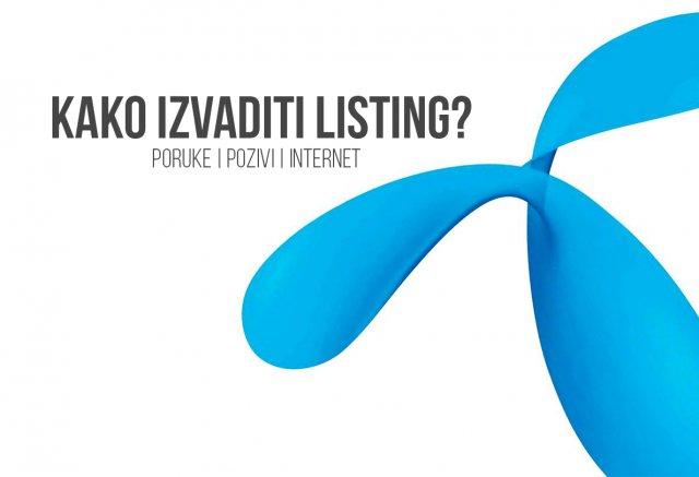 Kako izvaditi listing za Telenor mrežu? [Postpaid / Prepaid