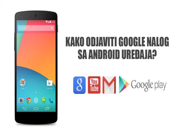 Kako se odjaviti sa Google naloga na telefonu?