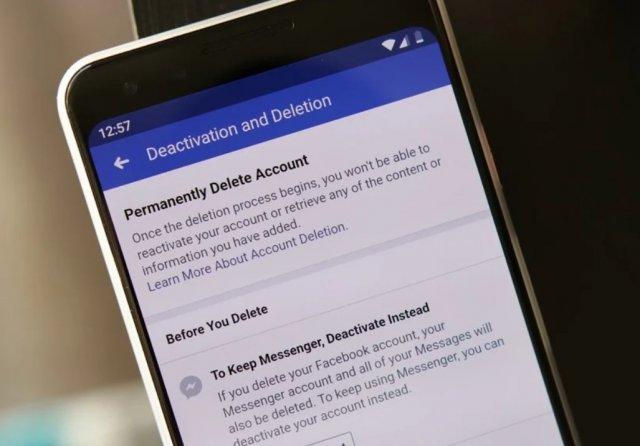 Kako zauvek izbrisati Facebook profil preko telefona?