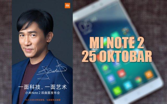Xiaomi će 25 oktobra lansirati novi Mi Note 2 sa zakrivljenim ekranom na bokovima!